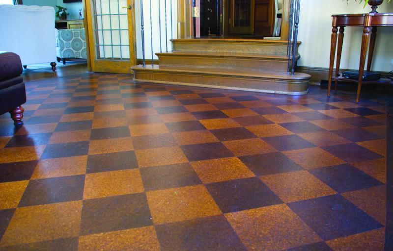 88-Year-Old Cork Floor Preserved
